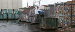 recycling cans and bottles