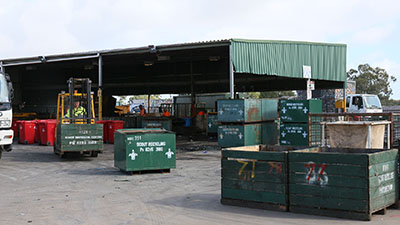 Gas cylinders kept seperate from scrap metal at recycling depot Adelaide