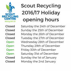 scout recycling trading hours